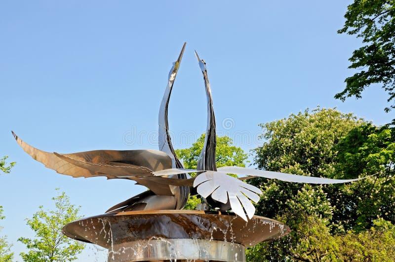 Swan fountain, Stratford-upon-Avon. stock image