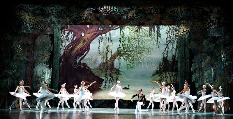 Swan Lake ballet. Russian royal ballet's performance Swan Lake ballet at Jinsha theater December 25, 2010 in Chengdu, China stock photos
