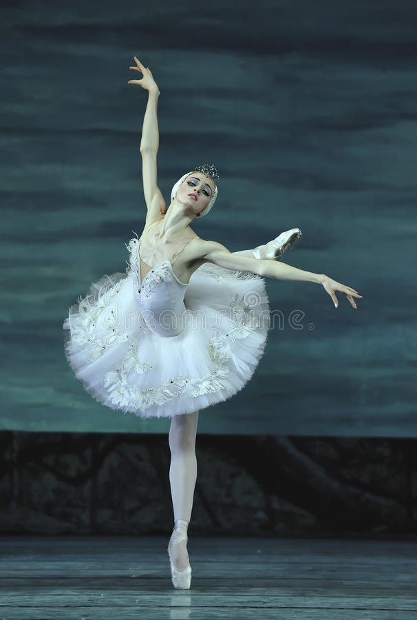 Swan lake ballet performed by russian royal ballet royalty free stock image