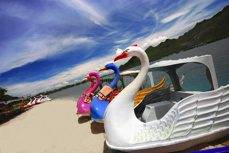 Download Swan Paddle Boats Royalty Free Stock Images - Image: 7021229