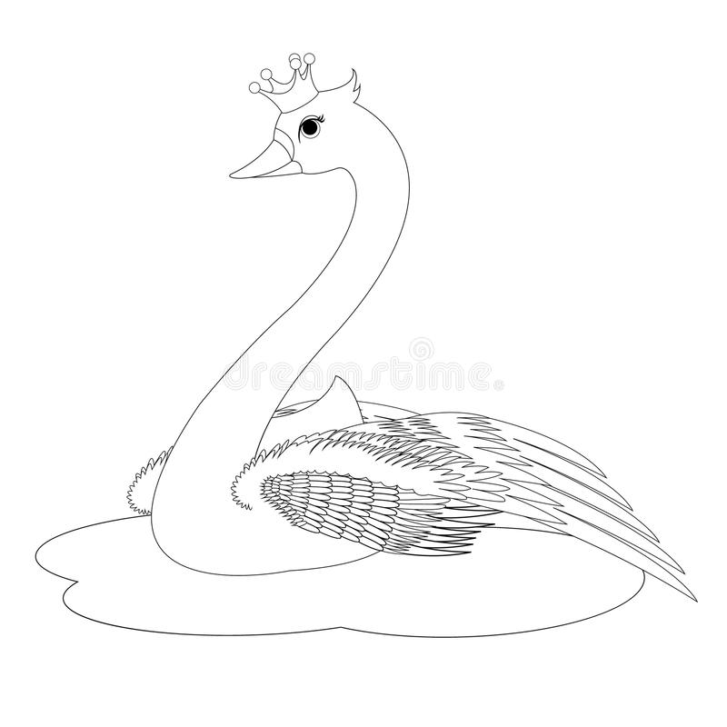 Download The Swan Princess Coloring Book Page Stock Vector