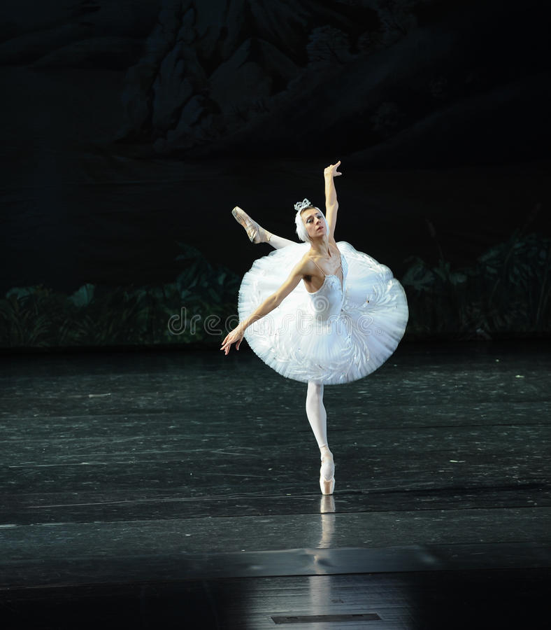 Swan wings to fly-ballet Swan Lake stock images