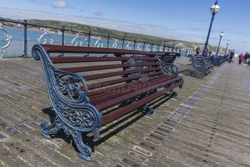 Swanage Pier lizenzfreie stockfotografie
