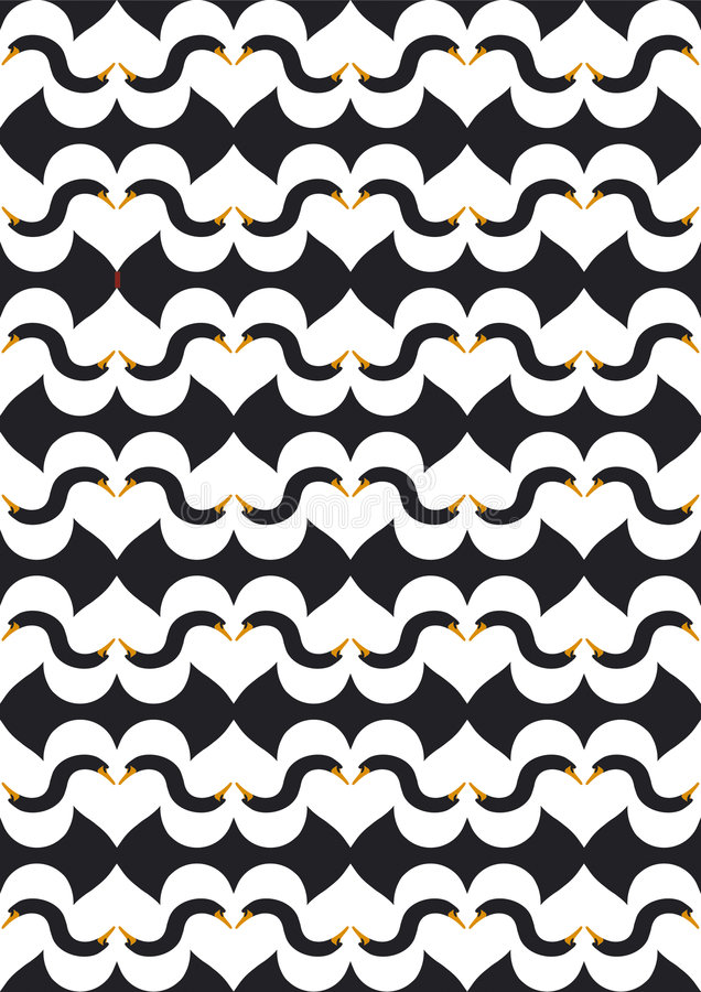 Swanlake negro del amor stock de ilustración