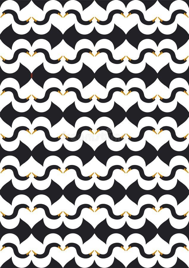 Swanlake nero di amore illustrazione di stock