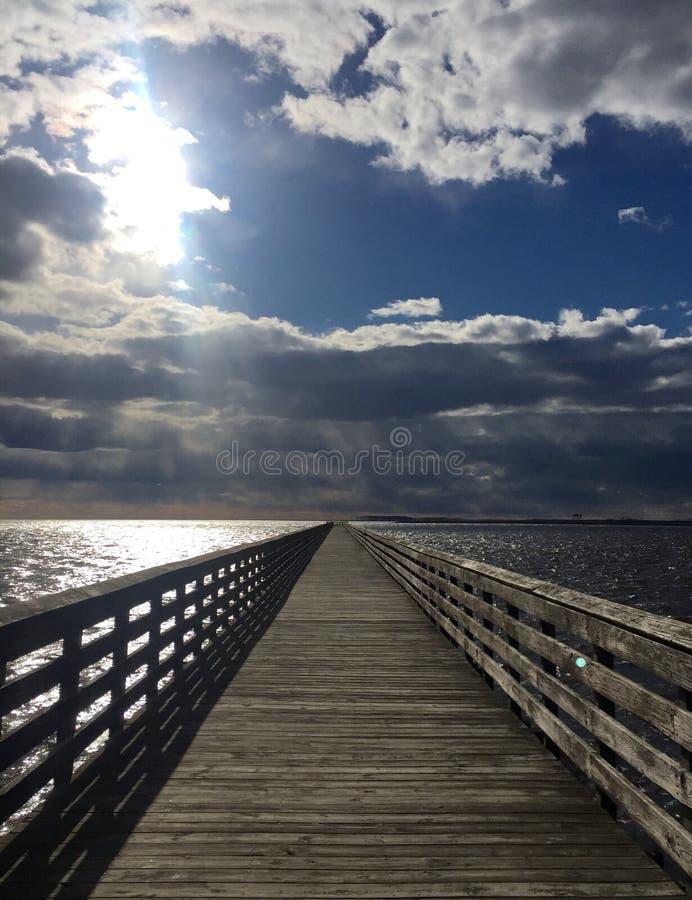 Swanquarter-Fischen-Pier stockfotografie