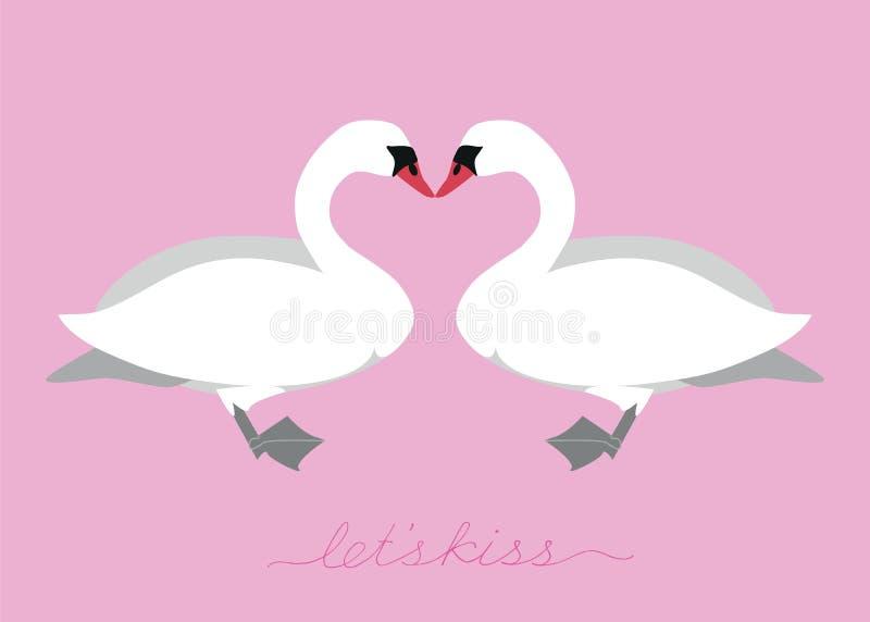 swans vektor illustrationer