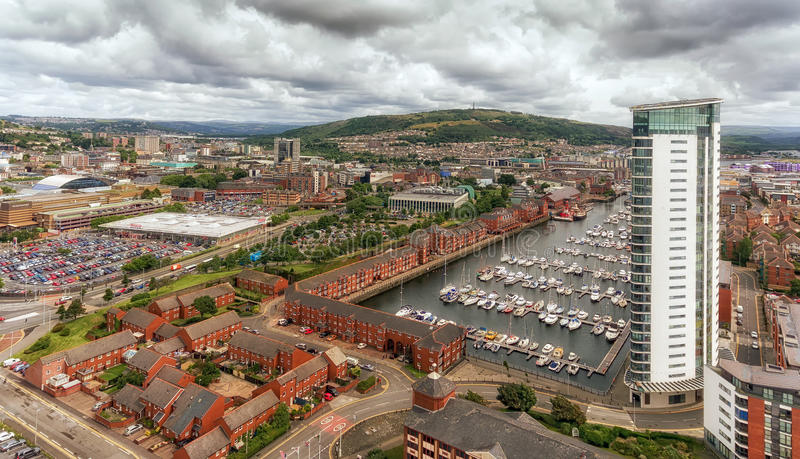 Swansea est images stock
