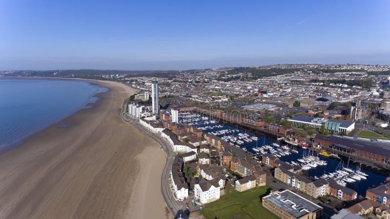 Swansea fjärd södra Wales royaltyfria bilder