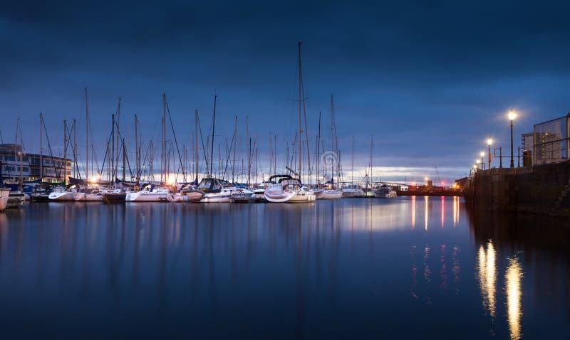Swansea Marina Morning royalty-vrije stock afbeelding