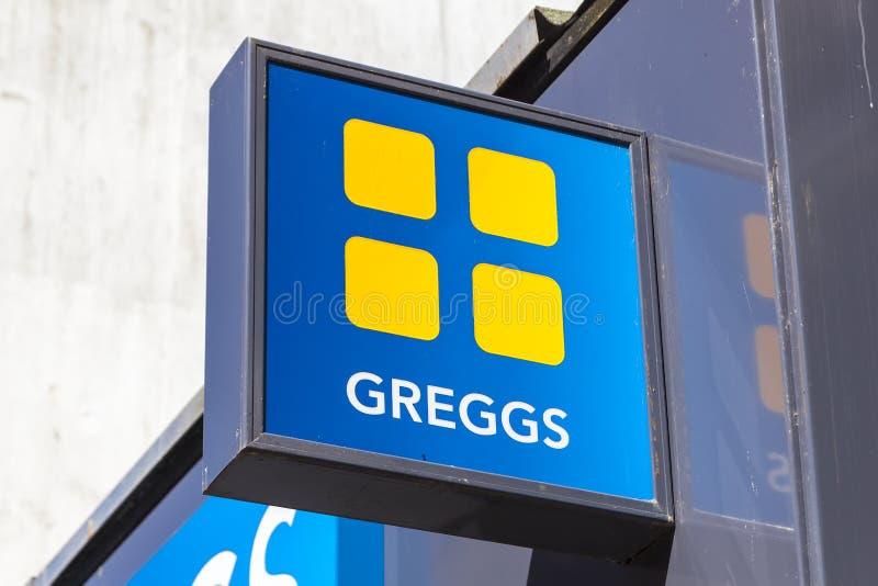 Greggs baker logo stock photo