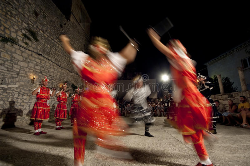 sward moresca танцульки Хорватии стоковое изображение