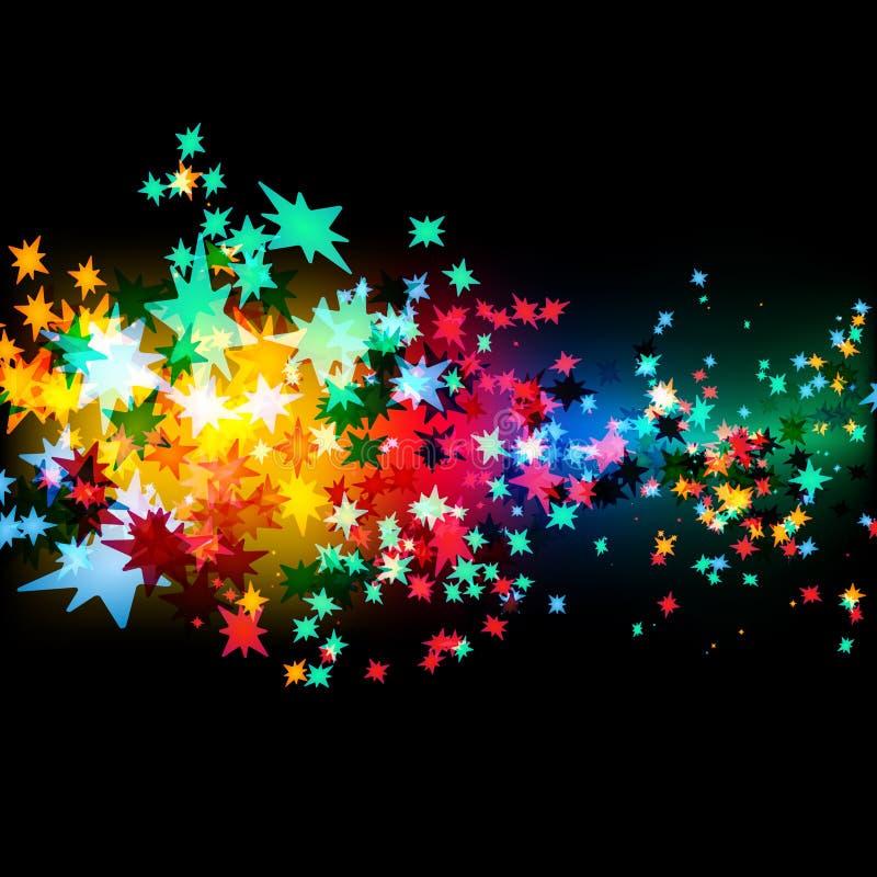 Swarm of Stars vector illustration