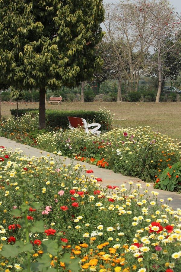 Swarn Jayanti公园, Rohini,新德里,印度 库存照片