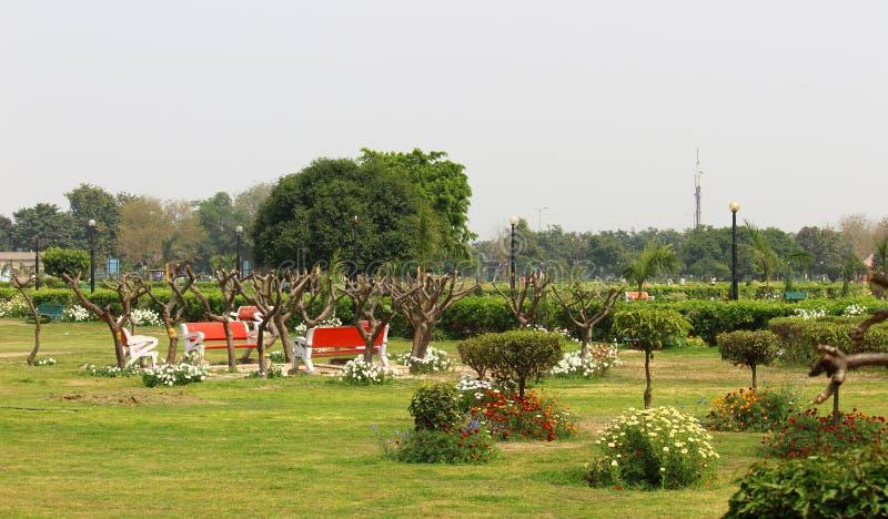 Swarn Jayanti公园, Rohini,新德里,印度 免版税库存图片