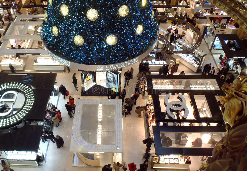 Swarovski christmas tree royalty free stock image