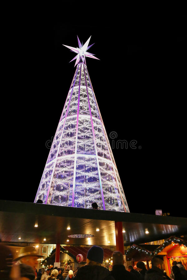 download swarovski crystal christmas tree in innsbruck austria editorial photography image 61158597 - Crystal Christmas Tree