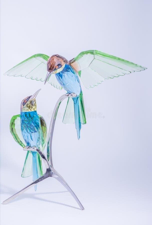 Swarovski Crystal Hummingbirds royaltyfria bilder