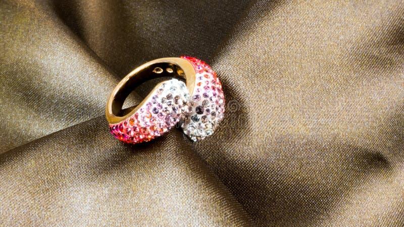 Swarovski crystal ring royalty free stock photo