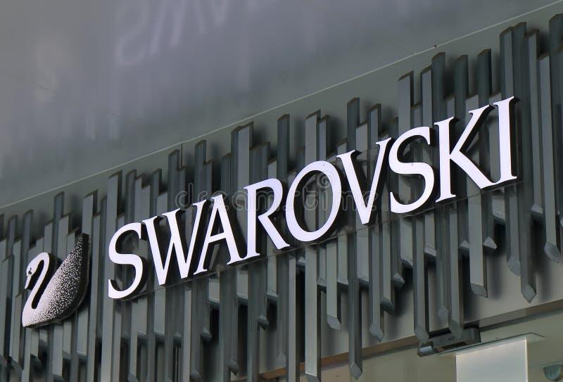 Swarovski fashion brand stock images