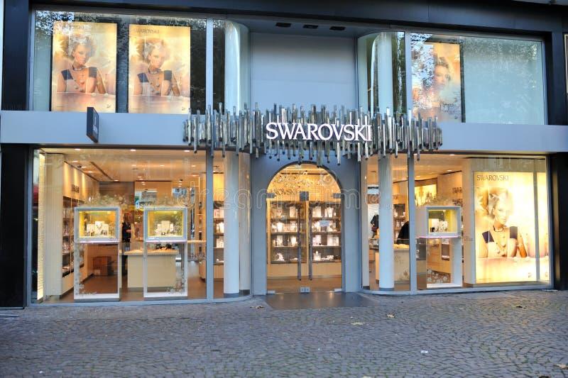 Swarovski jewelry store front view editorial stock image for Swarovski jewelry online store