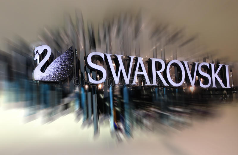 Swarovski logo royaltyfria foton