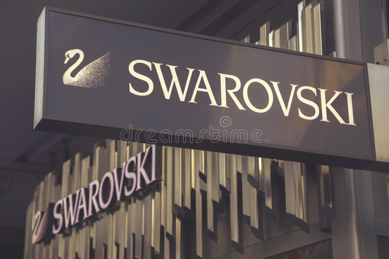 Swarovski store sign 4 royalty free stock image