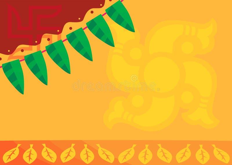 Swasti en jaune radiant illustration stock