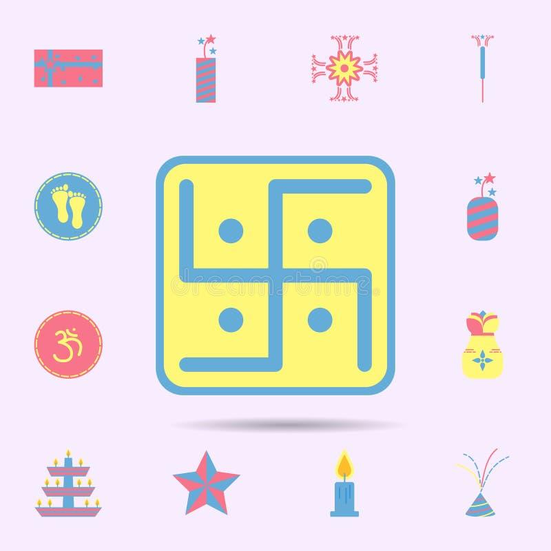 swastik hinduism ikona diwali ikon og?lnoludzki ustawiaj?cy dla sieci i wisz?cej ozdoby ilustracji