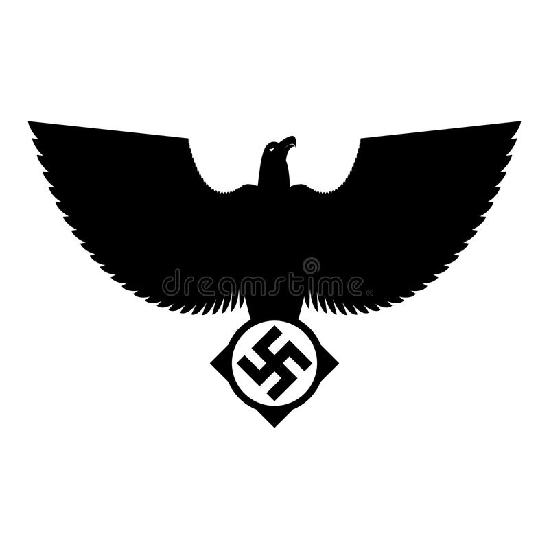 Swastika And Eagle Nazi Symbol Of Fascist Germany Vector Illus