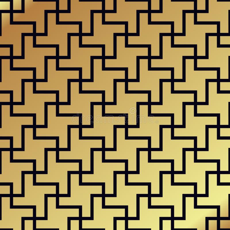 Swastika seamless pattern. Rotating cross royalty free illustration