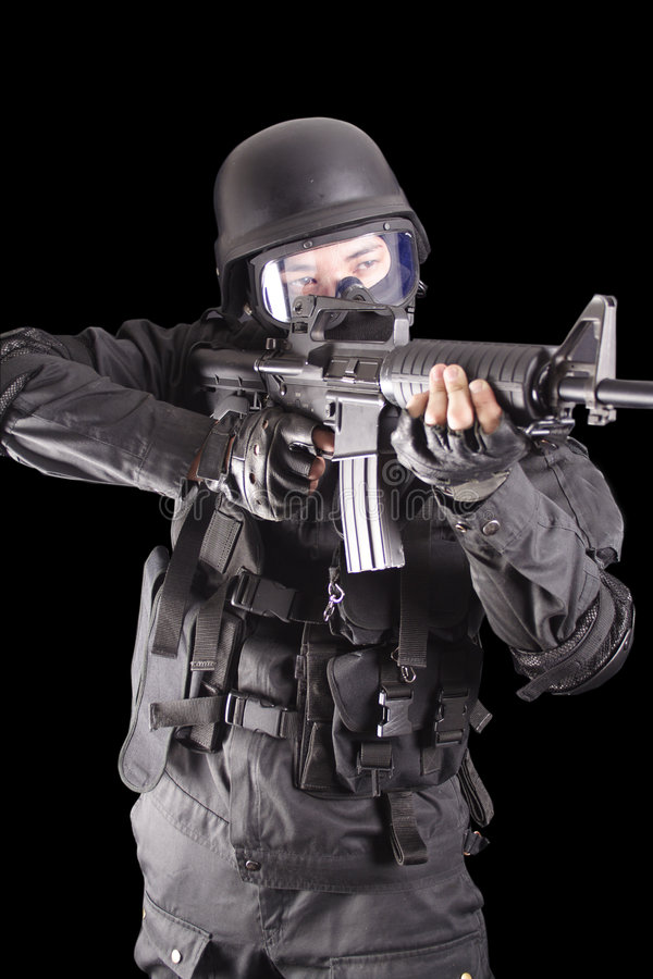 Download SWAT stock photo. Image of gunpowder, noisy, noise, army - 1264250