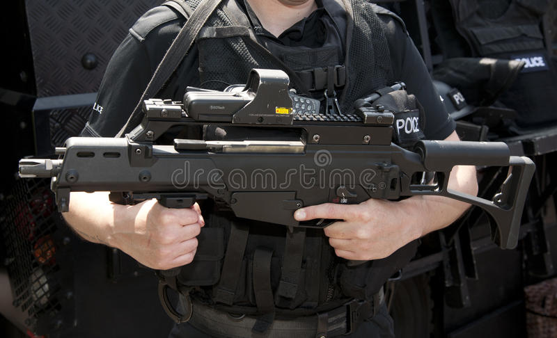 Download POLICE SWAT HK G36 Assault Rifle Editorial Photo - Image: 25225546