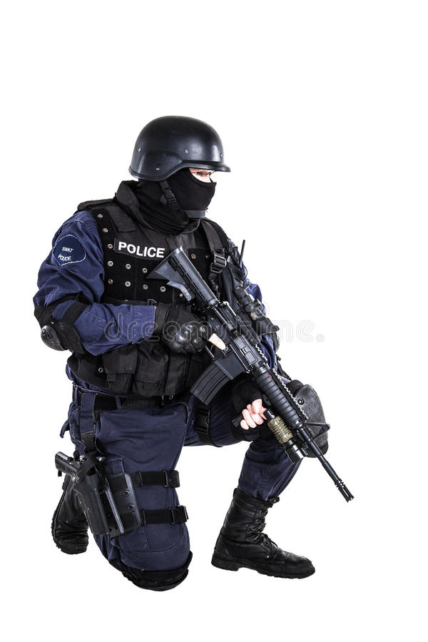 SWAT officer stock photos