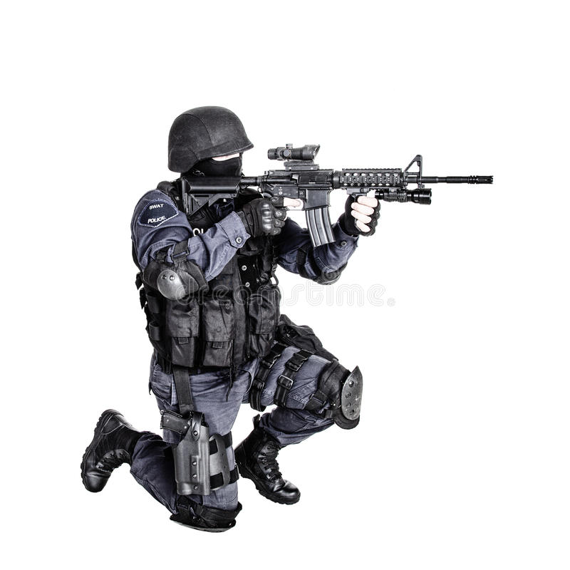 SWAT officer stock image. Image of swat, force, mask - 40957561