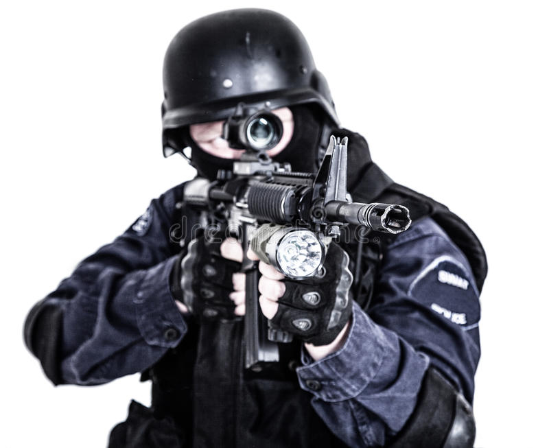 SWAT officer stock image. Image of swat, anti, fight - 40957665