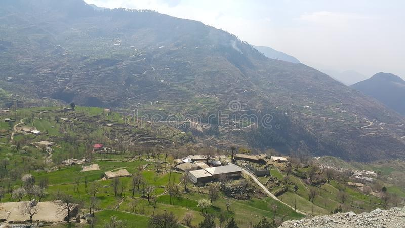 Swat, Pakistan. Up the hill, Swat, Pakistan royalty free stock photography