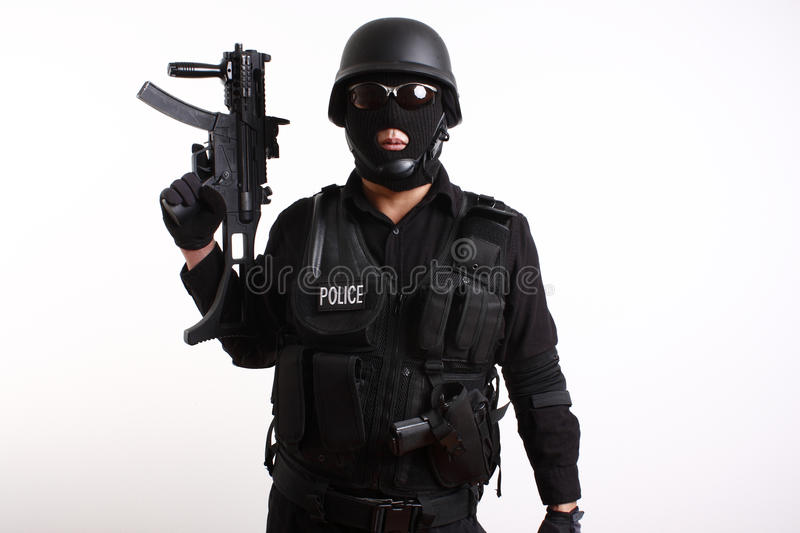 Download SWAT police officer stock photo. Image of male, adult - 12260042