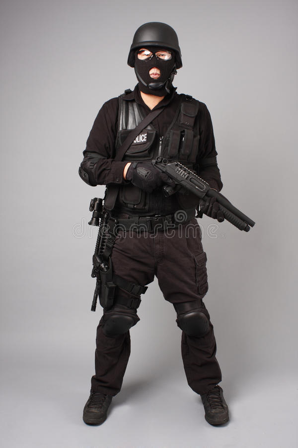 SWAT police officer royalty free stock photography