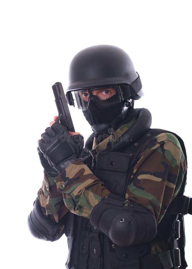 Swat soldier stock image