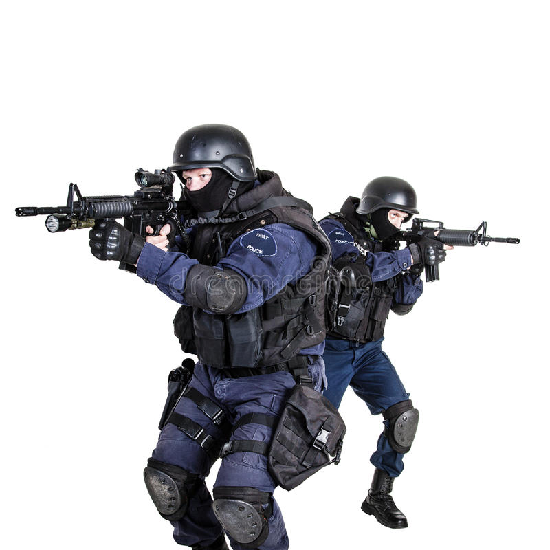 SWAT team in action stock image. Image of assault, scope ...