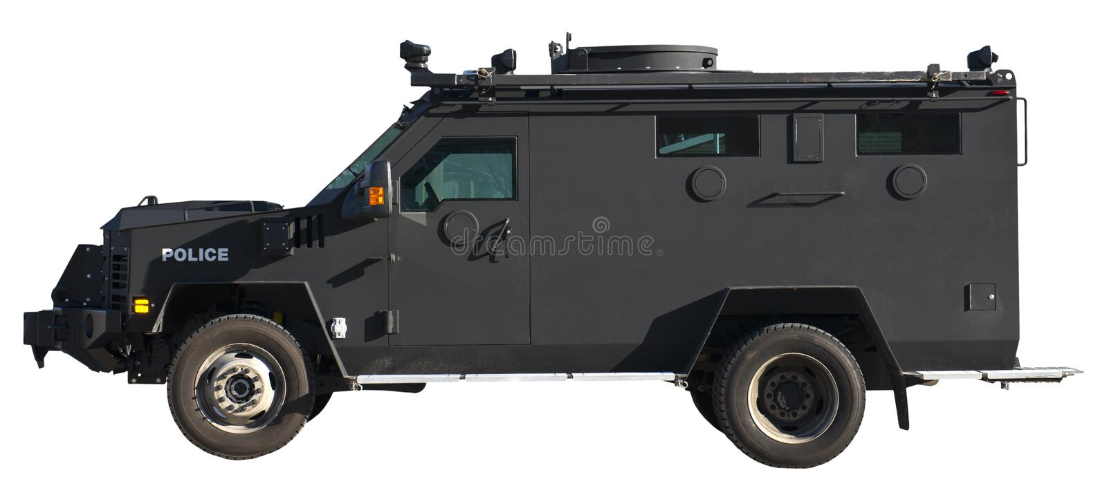 SWAT Team Armored Truck Vehicle Isolated royalty free stock photos
