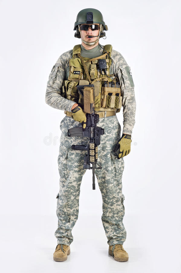 SWAT Team Officer Royalty Free Stock Photography