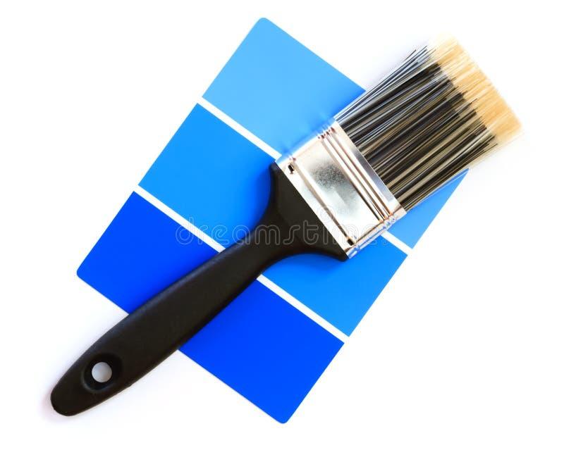 Swatch azul da cor foto de stock