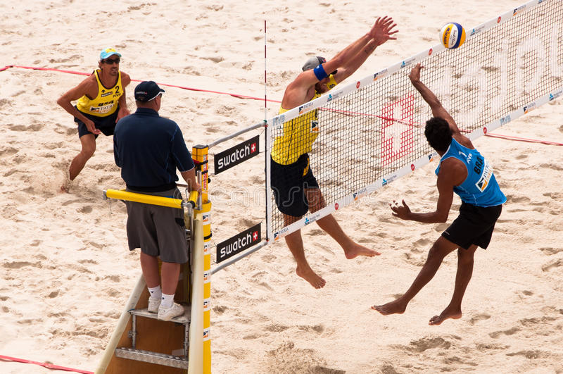 SWATCH FIVB World Tour 2010 - Prague Editorial Photo