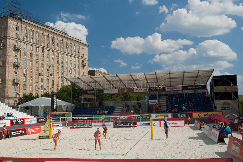 Download SWATCH FIVB WORLD TOUR 2011 - Moscow Grand Slam Editorial Stock Image - Image: 20316514