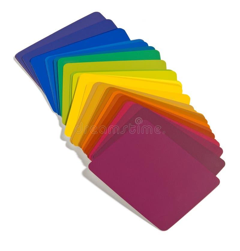 Swatches da cor do desenhador foto de stock