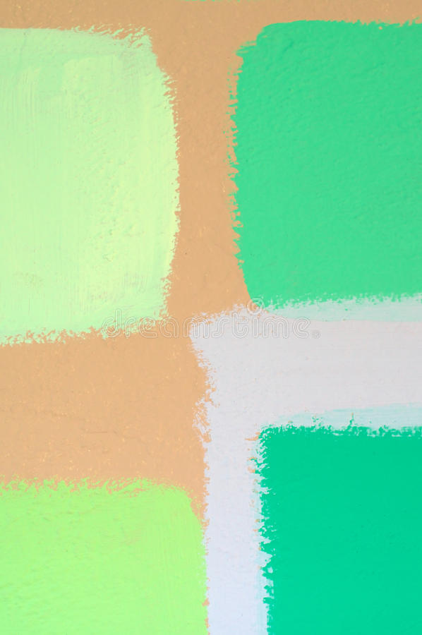 Swatches Of Green Paint On Wall Stock Photo - Image of abstract ...