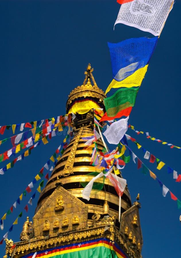 Swayambhu Stupa, Kathmandu, Nepal fotografia stock libera da diritti