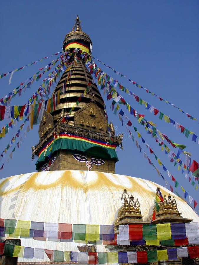 swayambhunath寺庙 库存照片